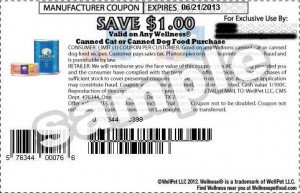 US Wellness Canned Dog Food Coupons $1.00 June 2013