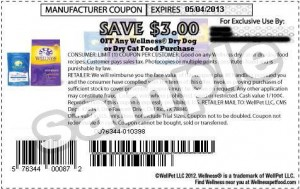 Wellness Dry Cat Food Coupons 2013 April US