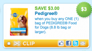 Pedigree - SAVE $3.00
