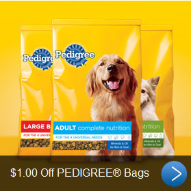 2012 Pedigree Coupons for Dog Food February and March