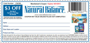 Natural Balance Dog Food Coupons