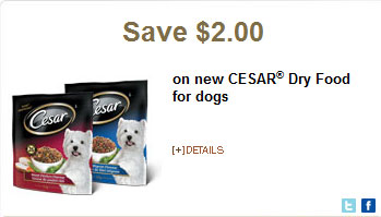 Cesar Dry Dog Food Coupons