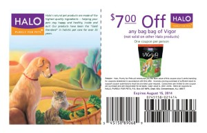 $7.00 Vigor Dog Food Coupons