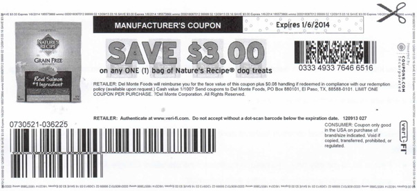 Nature S Recipe Dog Food Coupons And Reviews