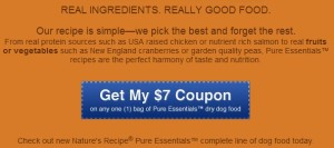 Nature's Recipe $7 Coupon for dry dog food