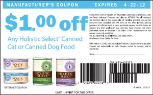 Holistic Select Coupons For Canned Dog Food 2012 April US Sample