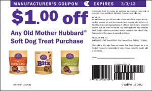 Old Mother Hubbard Dog Treats Coupons 2012 Sample
