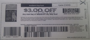 AvoDerm Dry Dog Food Coupons For 2012 May Sample
