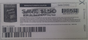 Printable ALPO Dog Food Coupons 2012 May Sample