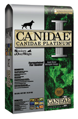 Canidae Platinum Formula for Seniors and Over Weight Dogs