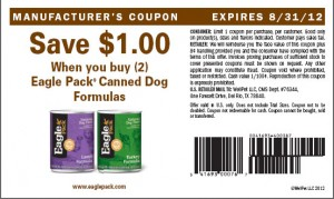 Eagle Pack $1.00 Canned Dog Food Printable Coupons