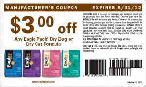 Eagle Pack $3.00 Dry Dog Food Printable Coupons