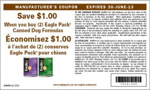 Printable Eagle Pack Canned Dog Food Coupons 2013 Canada