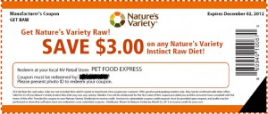 $3 Instinct Raw Grain Free Dog Food Coupons