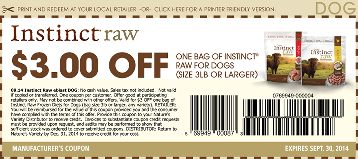 Dog food coupons by mail