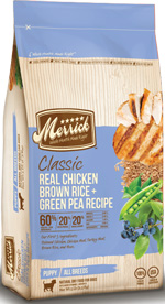 Merrick Real Chicken Brown Rice Green Pea Puppy Food Recipe