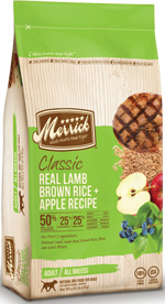 Merrick Real Lamb Brown Rice Apple Dog Food Recipe