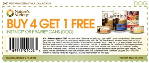 Printable Instinct Dog Food Coupons May 2013