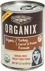 ORGANIX GRAIN-FREE ADULT DOG FOOD TURKEY, CARROT & POTATO FORMULA