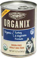 ORGANIX GRAIN-FREE ADULT DOG FOOD TURKEY & VEGETABLE FORMULA