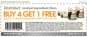 Instinct Limited Ingredient Diets Coupons March 2013