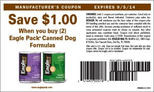 $1.00 Eagle Pack Canned Coupon