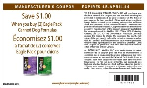 Canadian Eagle Pack Canned Dog Food Coupons April 15 2014