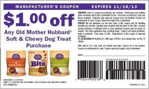 Old Mother Hubbard Soft Chewy Dog Treats Coupons