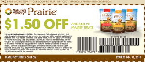 1.50 Prairie Treats Coupon