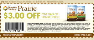 2014 April 30 Prairie Kibble Coupon