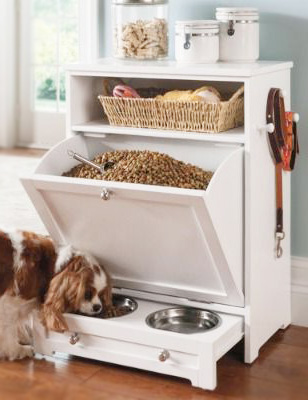 All In One Dog Food Storage Bin And Feeding Station