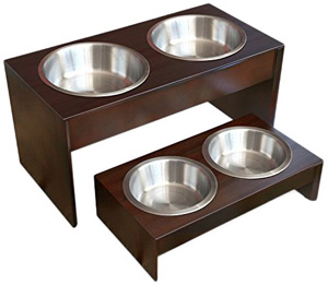 10.1-Inch-Solid-Wood-Elevated-Dog-Food-Feeder