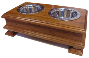 Solid-Wooden-Cherry-Raised-Dog-Bowl-Stand