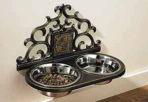 Wall-mounted-Floating-Elevated-Dog-Food-Bowl