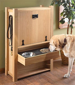 adjustable-wood-dog-feeding-tray-with-storage-cabinet
