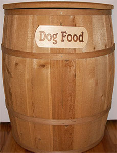 large-dog-food-wooden-barrel